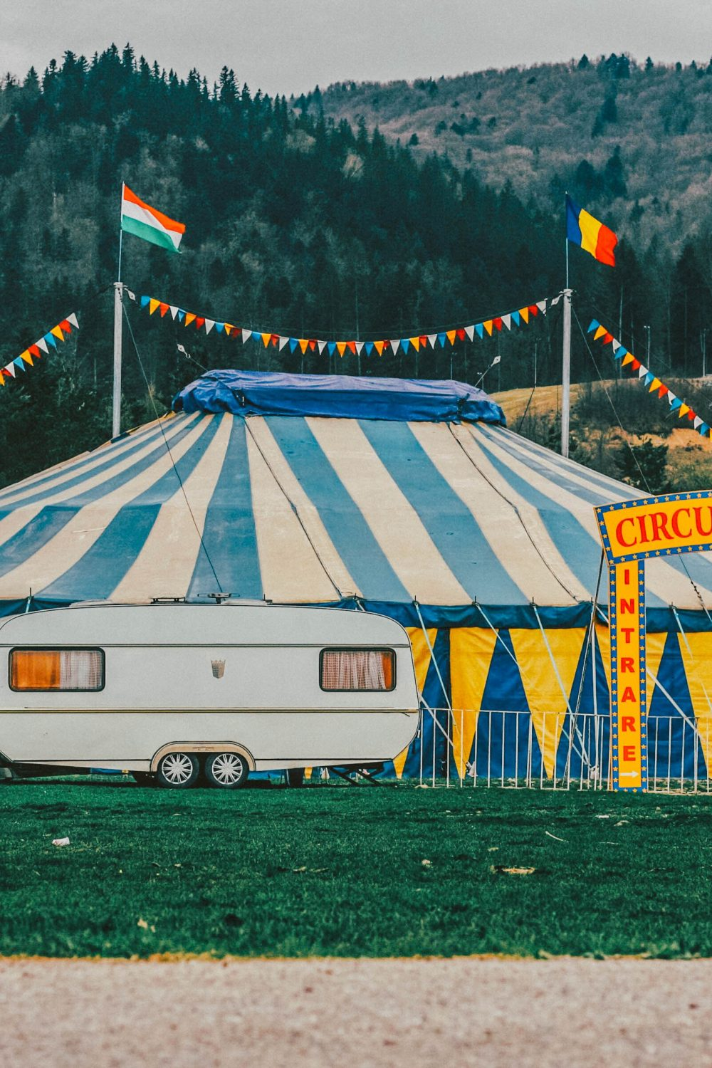 A circus tent on a field on a blog post talking about The Greatest Showman